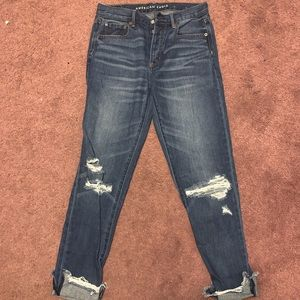 American eagle high-rise girlfriend jeans